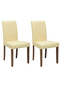 nesthouz.com Lenore Dining Chair in Cocoa/Cream Colour x 2pcs