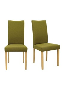 nesthouz.com Layla Dining Chair in Natural/Olive Colour x 2pcs