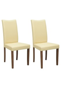 nesthouz.com Layla Dining Chair in Cocoa/Cream Colour x 2pcs