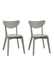 nesthouz.com Naida Dining Chair in Grey Colour x 2pcs