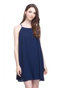 Angel Court Sleeveless Slash Neck Mini Dress AC58-5802