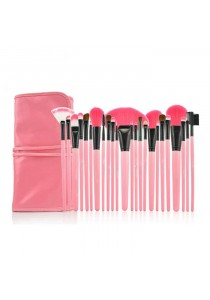 24 Pcs High Quality Professional Cosmetic Makeup Brush Set With Pouch Bag