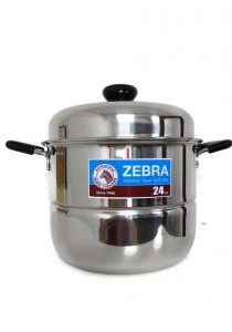 ZEBRA 24cm Sauce Pot with Double Steamer Plate