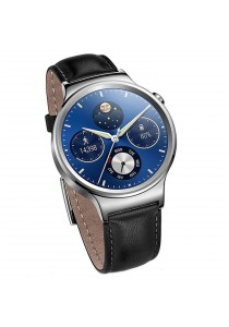 Huawei W1 Smart Watch Stainless Steel Case with Genuine Leather Strap