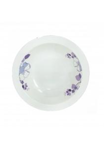 Idea Melamine Soup Bowl 6 Pcs Pattern Flower Purple (8.5 inch)