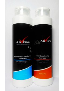 Anvison Valued Pack 32 (Mix and Match Shampoo) - Junior Conditioning Shampoo 400ml and Multi in 1 Conditioning Shampoo 400ml