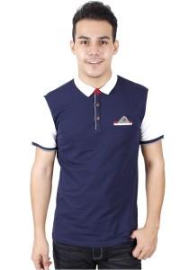 KM Men Short Sleeve Shirt - Dark Blue