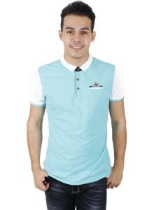KM Men Short Sleeve Shirt - Sky Blue