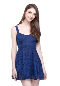 Angel Court Elastic Waistband Sleeveless Scoop Neck Mini Dress (AC37-2842)