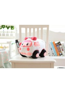 Robotcar Poli Character Amber Soft Toy - Pink
