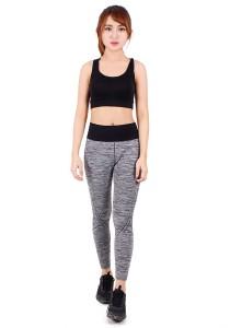 KM Grey Long Fitness Lady Bottom (M27474-Free Size-Grey) Free Size