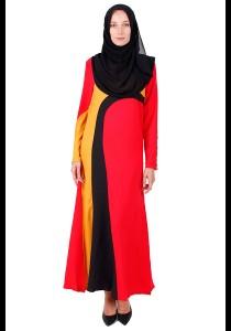 KM Muslimah Jubah Strips Dress Free Size