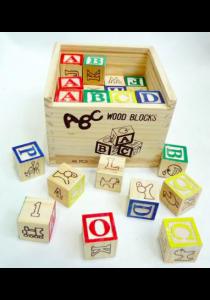 Alphanumeric Wooden Building Block - 27 prints