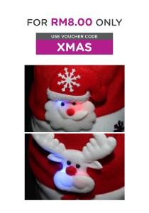 Christmas Hat with LED (B & C)