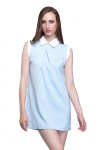 Angel Court Sleeveless Shirt Collar Mini Dress AC38-5350