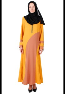 KM Muslimah Plain Jubah With Zip Free Size