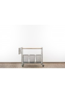 Vetop Storage Trolley Large - Chrome