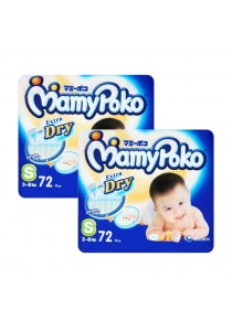 2 Units Mamypoko Extra Dry Diaper Super Jumbo Pack 72-Piece Small