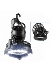 2-In-1 Camping LED Light Ceiling Fan with Hook