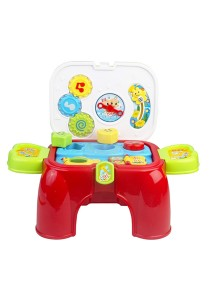 2 in 1 Lovely Baby Carry Along Battery Operated Activity Play Set With Lights And Sound