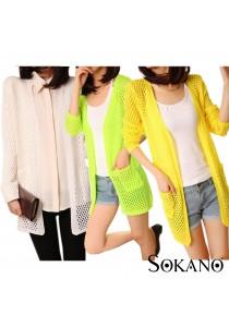 SoKaNo Trendz Summer Neon Knitted Cardigan