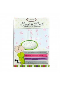 Autumnz Swaddle Pouch (Pink Hearts)