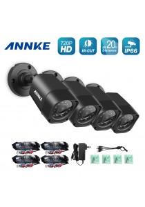 [4 Units] ANNKE 720P HD TVI IR-CUT IP66 CCTV Security Cameras Bullet Cameras - C11BX