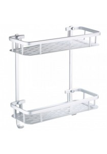 2 Tier Rectangular Aerospace Aluminium Wall Mounted Rack