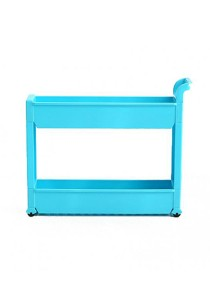 FASHION TEE Storage Rack with Handle and Wheels (Blue)