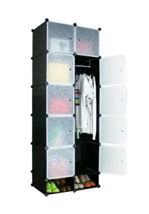 Tupper Cabinet 12 Cubes Black Stripes DIY Wardrobe With Shoe Rack