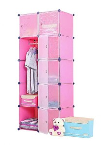 Tupper Cabinet 10 Cubes 1 Hanger Pink Color DIY Wardrobe