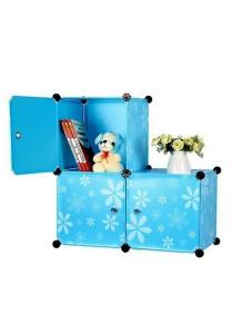 Tupper Cabinet 3 Cubes DIY Storage Box - L-shape Blue