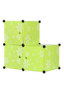 Tupper Cabinet 3 Cubes Green Flower L-Shape DIY Storage Box