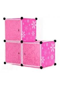 Tupper Cabinet 3 Cubes DIY Storage Cabinet - L-shape Pink