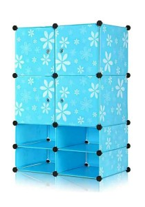 Tupper Cabinet 8 Cubes Mini Bottom Blue Flower DIY Cabinet
