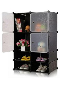 Tupper Cabinet 8 Cubes Mini Bottom Black Stripes DIY Cabinet