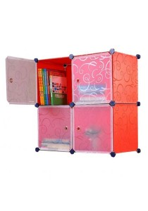 Tupper Cabinet 4 Cubes Square DIY Cabinet (Red Stripes)