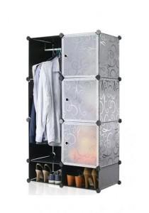 Tupper Cabinet 8 Cubes Black Stripes DIY Wardrobe With Shoe Rack