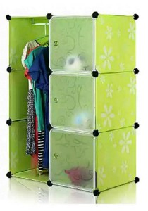 Tupper Cabinet 6 Cubes Green Flower DIY Wardrobe