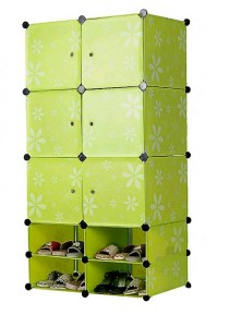 Tupper Cabinet   10 Cubes Mini Bottom Green Flower DIY Cabinet