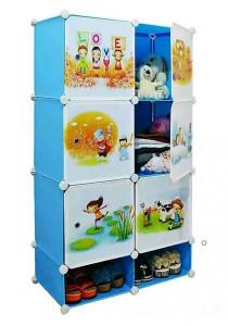 Tupper Cabinet 8 Cubes DIY Sky Blue Cartoon(Story) Storage Cubes
