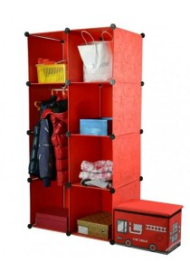 Tupper Cabinet 8 Cubes Red Stripes  DIY Wardrobe