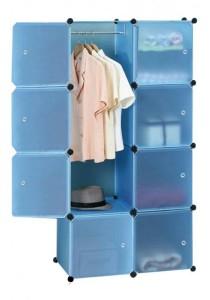 Tupper Cabinet 8 Cubes DIY Wardrobe (Sky Blue)