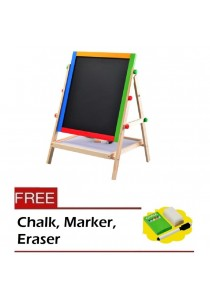 2-in-1 Easel Wooden White & Black Board Series 75 for Kid