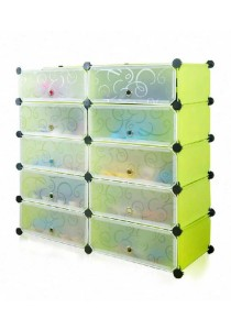 Tupper Cabinet 6 Tier 12 Cubes Fruit Green DIY Shoe Rack