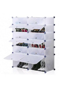 Tupper Cabinet 6 Tier 12 Cubes White Stripes DIY Shoe Rack