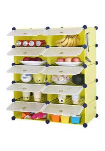 Tupper Cabinet 10 Cubes Fruit Green DIY  Kitchen Rack With 8 Iron Frame