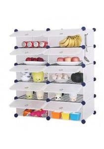 Tupper Cabinet 10 Cubes White Stripes DIY  Kitchen Storage With 8 Iron Frame