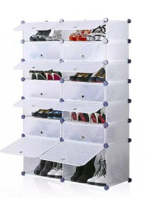 Tupper Cabinet 7 Tier 14 Cubes White Stripes DIY Shoe Rack