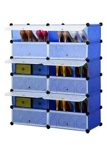 Tupper Cabinet 12 Cubes DIY Shoe Rack (Blue Water)